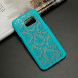 Matte PC Back Case Cover for Samsung Galaxy Note 5 Green?Retro Engraved Pattern?