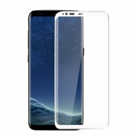 3D Full Curved 9H Tempered Glass Screen Protector Film for Samsung Galaxy S8 Plus White