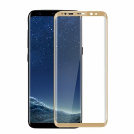 3D Full Curved 9H Tempered Glass Screen Protector Film for Samsung Galaxy S8 Golden