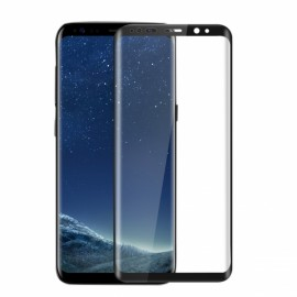 9H Tempered Glass Screen Protector Film 3D Curved for Samsung Galaxy S8 Black