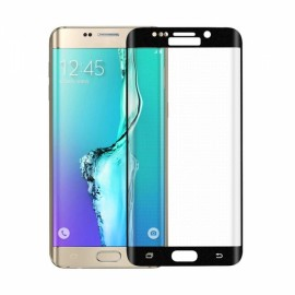 "Angibabe 0.2mm 2.5D Curved Surface Full Cover 9H Tempered Glass Screen Protector Film for Samsung Galaxy S6 Edge Plus G9280 5.7"" Black"