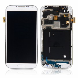 Digitizer Touch Screen + Display LCD Screen with Frame for Samsung S4 i337 White