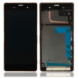 LCD Screen and Touch Screen Assembly with Golden Frame for Xperia Z3 D6603 D6643 C6653 Black