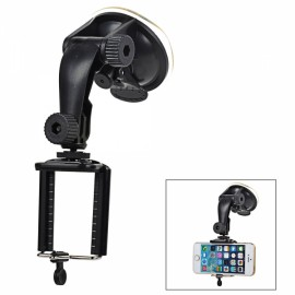 Universal Large Lengthened ABS Car Mount Holder with Suction Cup for Cellphones/Digital Cameras Black