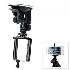 Universal Car Mount Cellphone Holder & Suction Cup for iPhone / Samsung / HTC / Digital Cameras Black