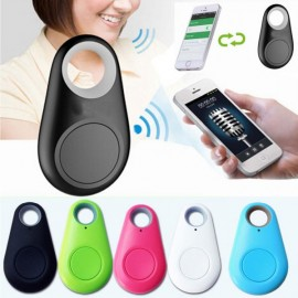 Smart GPS Bluetooth Anti-lost Tracker Self-Portrait Alarm Key Black