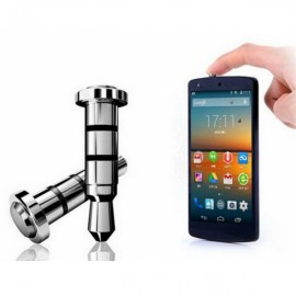 360 Universal 3.5mm Plug One-click Shortcut Key Dustproof plug for Android Phone Silver