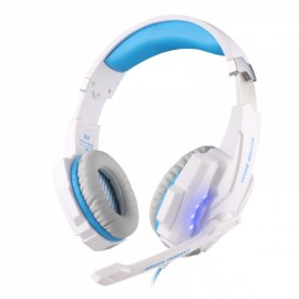 KOTION EACH G9000 USB 7.1 Surround Sound Version Game Gaming Headphone Computer Headset Earphone Headband with Microphone LED Light White & Blue