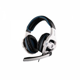 SADES SA-810 Gaming Headset Headphone Stereo Bass Noise Canceling with Microphone White