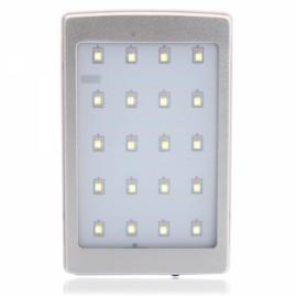 10000mAh Large Capacity 18650 High-tech Cell Multifunctional Camping Lamp Solar Energy Power Bank Silver