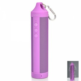 DS-1699 Outdoor Sport Portable IPX4 Waterproof Hands-free Bluetooth V4.0 Speaker with FM / TF Purple