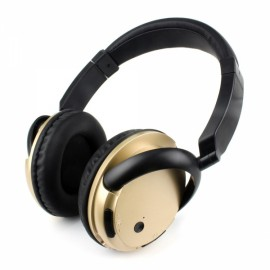 Stereo Bluetooth V4.1 Headset Sports Wireless Wired Headphone Earphone with Mic Golden