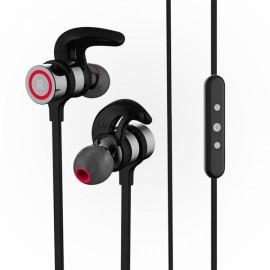 Wireless Hi-Fi Stereo Sound Headset Neck-strap & In-ear Hands-free Headphone Sports Music Earphone Black