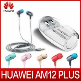 Original Huawei AM12 Plus In-Ear Earphones Built-in Mic Headphones Universal 3.5mm Jack Gray and Blue