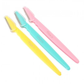 3pcs Tinkle Eyebrow Face Razor Trimmer Hair Remover Set Random Color