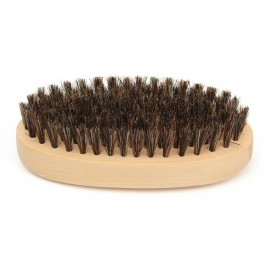 Oval Wood Handle Boar Bristle Beard Taming Mustache Brush Smooth Style Hair Comb
