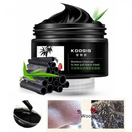 KOOGIS Bamboo Charcoal Tearing Blackhead Removal Mask Deep Clesing Acne Facial Nose