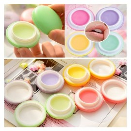 Round Sphere Candy Fruit Apple Taste Macaron Designed Moisturizing Nourishing Lip Balm Green