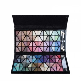 Naras 128-Color Glitter Metallic Eye Shadow Eyeshadow Palette with 2pcs Brushes