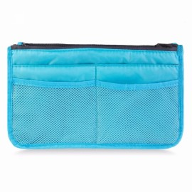Large Travel Toiletry Organizer Storage Bag Wash Cosmetic Bag Makeup Storage Bag Sky Blue