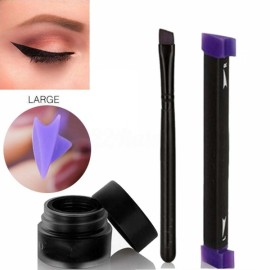 3Pcs/Set Cat Eye Wing Eyeliner Stamp Cream Brush Tool Easy to Makeup - Large Size