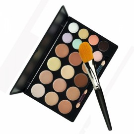 20-Color Concealer Palette Set with Nylon Foundation Brush