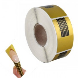 100pcs Professional Nail Art Tip Extension Form Guide Sticker Golden