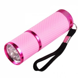 Portable Mini LED Nail Dryer Curing Lamp Flashlight Torch for UV Gel Nail Polish Pink