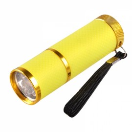 Portable Mini LED Nail Dryer Curing Lamp Flashlight Torch for UV Gel Nail Polish Yellow
