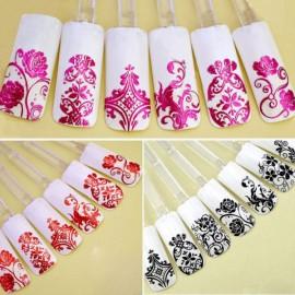 1 Sheet 108pcs 3D Flower Style Nail Art Stickers White