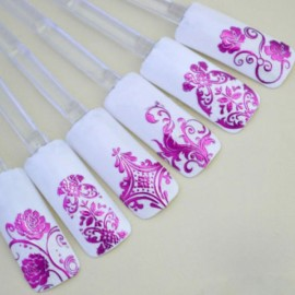 1 Sheet 108pcs 3D Flower Style Nail Art Stickers Rose Red