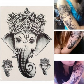 Waterproof Elephant Tattoo Designed Temporary Leg Arm Body Tattoo Sticker Tattoos For Girls Black