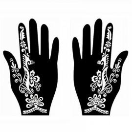 1 Pair India Henna Temporary Tattoo Stencil for Hand Leg Arm Feet Body Art Decal #26