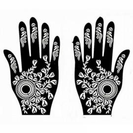 1 Pair India Henna Temporary Tattoo Stencils for Hand Leg Arm Feet Body Art Decal #34
