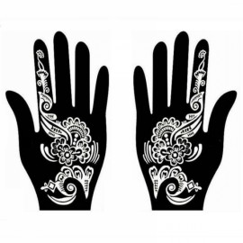 1 Pair India Henna Temporary Tattoo Stencil for Hand Leg Arm Feet Body Art Decal #21