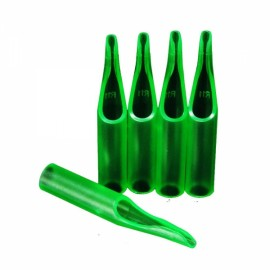 50pcs Box Packaged Disposable Tattoo Tips 11RT Green