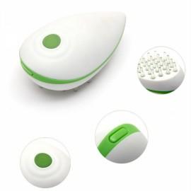 Mini Electric Scalp Head Massager Blood Circulation Promotion Vibrating Comb Green