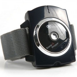 RENHE Bio Feedback Infrared Snore Stopper Anti Snoring Wristband Watch Black