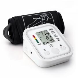 Digital LCD Automatic Blood Pressure Pulse Monitor Sphygmomanometer White