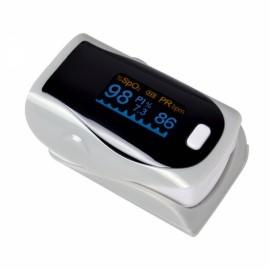 UltraFire OLED SPO2 PR Heart Rate Monitor Screen Fingertip Pulse Oximeter - Silver