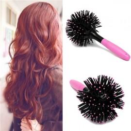 Head Scalp Massager Hair Brush 3D Spherical Shape Hair Comb Curl Style Brush Comb