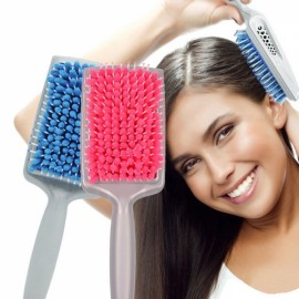 Microfiber Bristles Radiation Protection Quick Absorbent Dry Hair Comb Blue