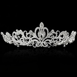 Bride Rhinestone Crystal Crown Tiara Princess Queen Wedding Bridal Party Prom Headpiece Hair Jewelry #01