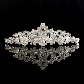 Bride Rhinestone Crystal Crown Tiara Princess Queen Wedding Bridal Party Prom Headpiece Hair Jewelry #03