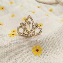 Small Wedding Bridal Rhinestone Crown Tiara Hair Comb Pin S12 Golden