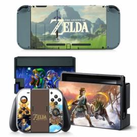 4pcs  Nintendo Switch Console Joy-Con Skin Zelda Vinyl Sticker Wrap - TN-switch-0013