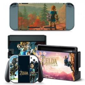 4pcs  Nintendo Switch Console Joy-Con Skin Zelda Vinyl Sticker Wrap - TN-switch-0012