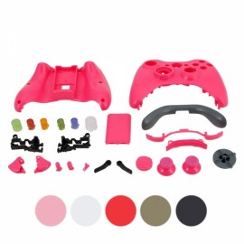 Protective Housing Case with Buttons for Xbox 360 Controller Deep Pink