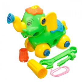 Puzzle Building Toys Develop Learning Fun Tools Random Color Elephant