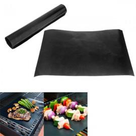 2pcs 33 x 40CM Reusable BBQ Grill Mat Non-stick Teflon Mat Baking Liner Black